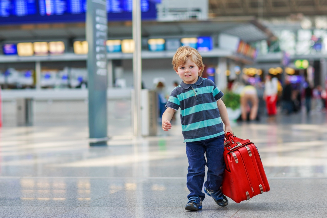 Child in an airport