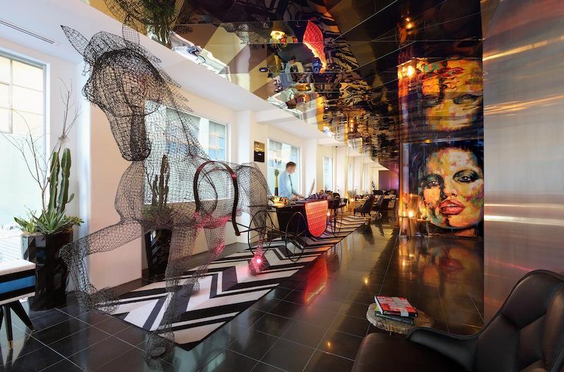 The Adelphi hotel foyer