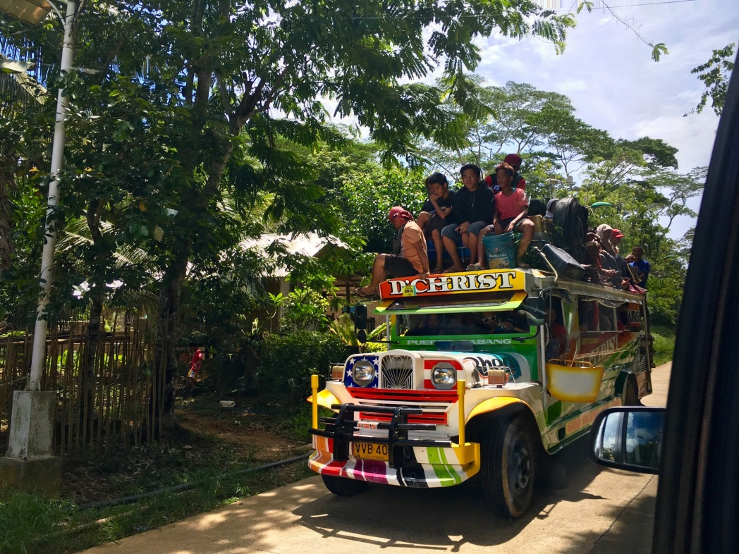 Bus ride in the Philippines