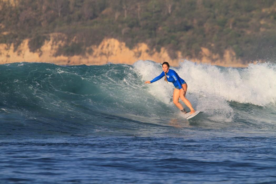 surfing in Gerupuk
