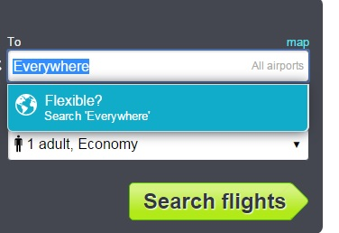 Search everywhere on Skyscanner