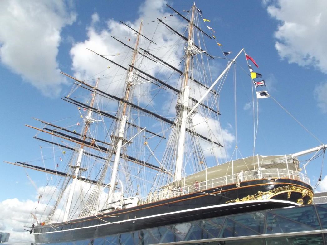 Ship and rigging on the Cutty Sark