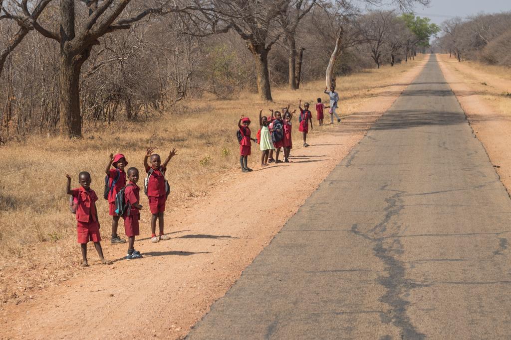 friendly children in Zimbabwe