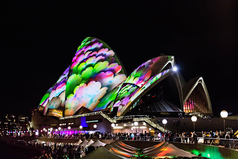 Pick the right room for a Vivid Sydney view like this