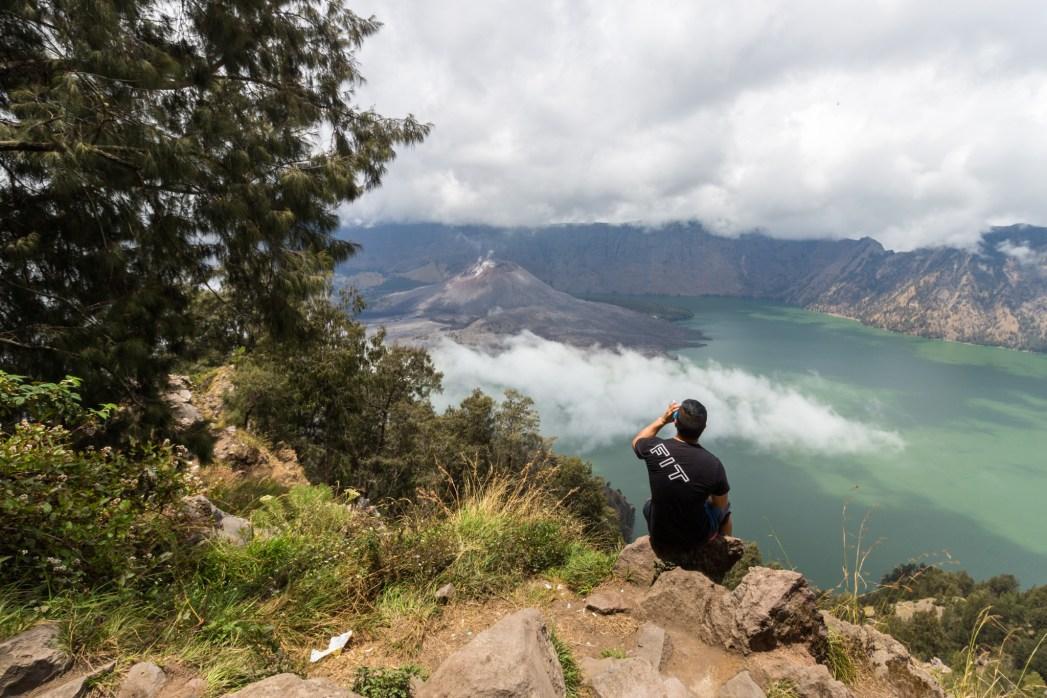 Mt. Rinjani crater lake