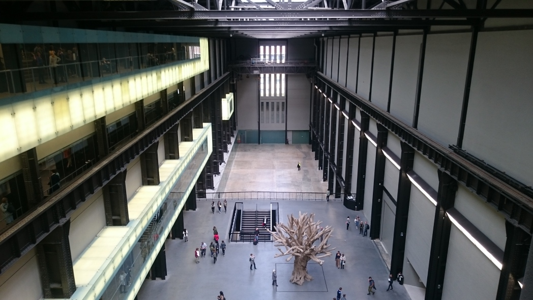 Big space and small people in Tate Modern
