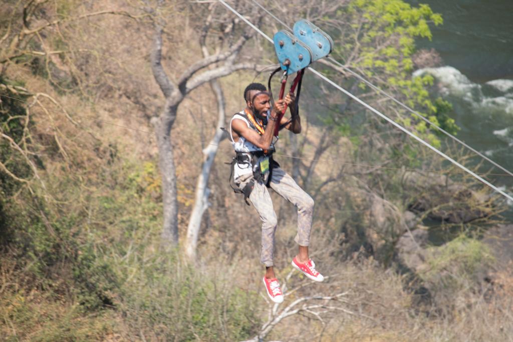 Monte ziplining in Zimbabwe